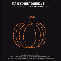 Pumpkin smaller rhinestone template svg, eps, png, dxf