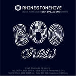Halloween Boo crew rhinestone template svg, eps, png, dxf - rhinestone templates