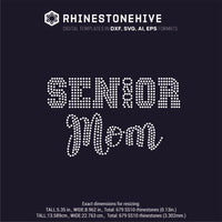 Senior 2020 Mom rhinestone template digital download, ai, svg, eps, png, dxf - rhinestone templates