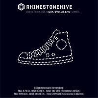 Sneaker rhinestone template digital download, ai, svg, eps, png, dxf - rhinestone templates