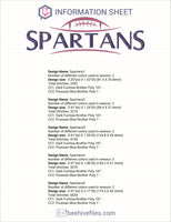 Spartans Football Ball Embroidery in DST, EXP, HUS, JEF, PCS, PES, SEW, VIP, VP3 & XXX - rhinestone templates