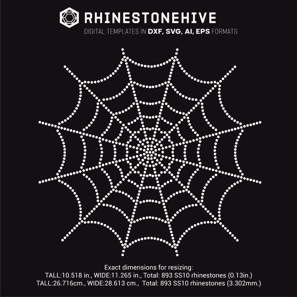 Spider Web rhinestone template digital download, ai, svg, eps, png, dxf - rhinestone templates
