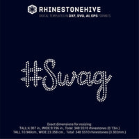 SWAG rhinestone template digital download, ai, svg, eps, png, dxf - rhinestone templates