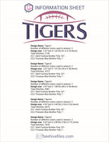 Tigers Football Embroidery in DST, EXP, HUS, JEF, PCS, PES, SEW, VIP, VP3 & XXX - rhinestone templates