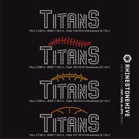 Titans team baseball, football, basketball, sport digital rhinestone templates, ai, svg, eps, png, dxf - rhinestone templates