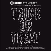 Halloween Trick or treat rhinestone template svg, eps, png, dxf - rhinestone templates