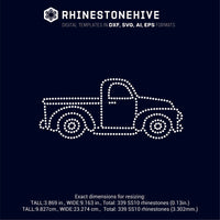 Vintage truck rhinestone template digital download, ai, svg, eps, png, dxf