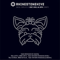 Yorkshire Terrier rhinestone template digital download, ai, svg, eps, png, dxf - rhinestone templates