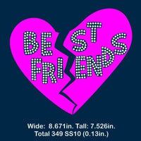 Best friends Vinyl and rhinestone template, svg, eps, png, dxf - rhinestone templates