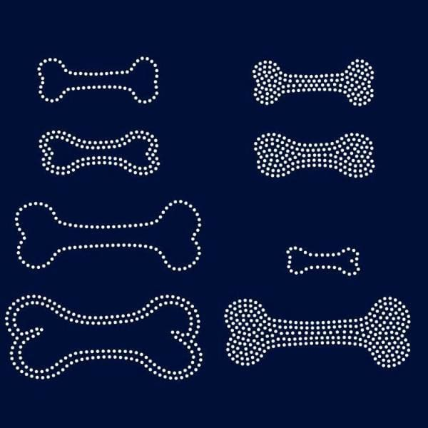 Bones, dog toy rhinestone template digital download, svg, eps, png, dxf - rhinestone templates