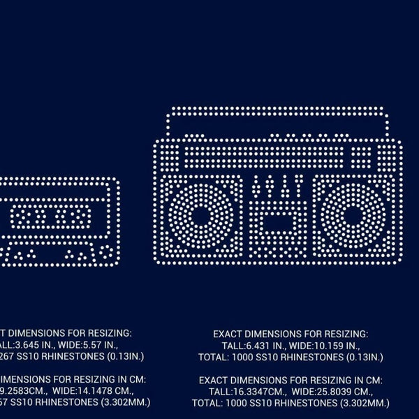 Boom box, Cassette Tape rhinestone template digital download, svg, eps, png, dxf - rhinestone templates