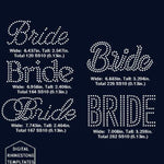 Bride words rhinestone template digital download, svg, eps, png, dxf - rhinestone templates