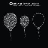 Balloons rhinestone template digital download, svg, eps, png, dxf - rhinestone templates
