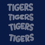 Tigers team mascot names rhinestone templates, ai , svg, eps, png, dxf SS10