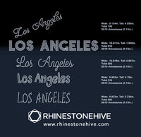 Los Angeles 5 designs rhinestone template digital download, svg, eps, png, dxf - rhinestone templates