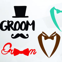 Groom, suit, tuxedo in svg, dxf, png format - rhinestone templates