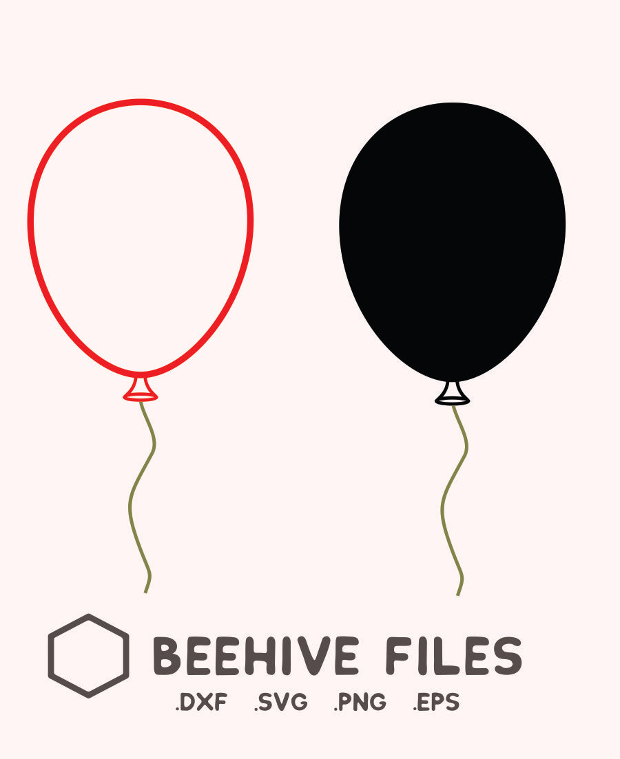 Free Balloon In Svg Dxf Png Eps Format Beehivefiles