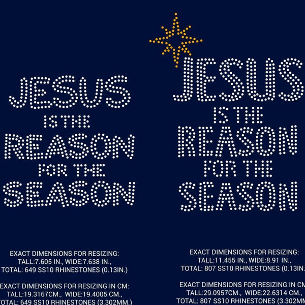 Jesus is the reason for the Season, Christmas rhinestone template digital download, svg, eps, png, dxf - rhinestone templates