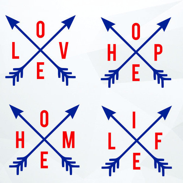 Love, home, hope life arrow in svg, dxf, png,format. Instant download - rhinestone templates