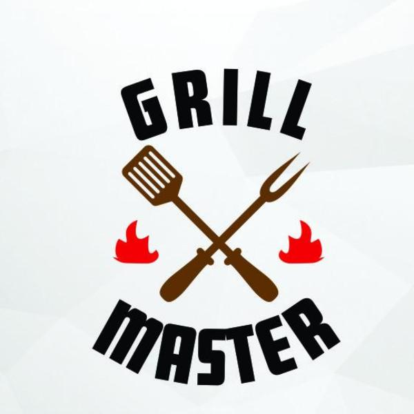 Grill master in svg, dxf, png format - rhinestone templates