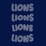 Lions team mascot names rhinestone templates, ai , svg, eps, png, dxf SS10