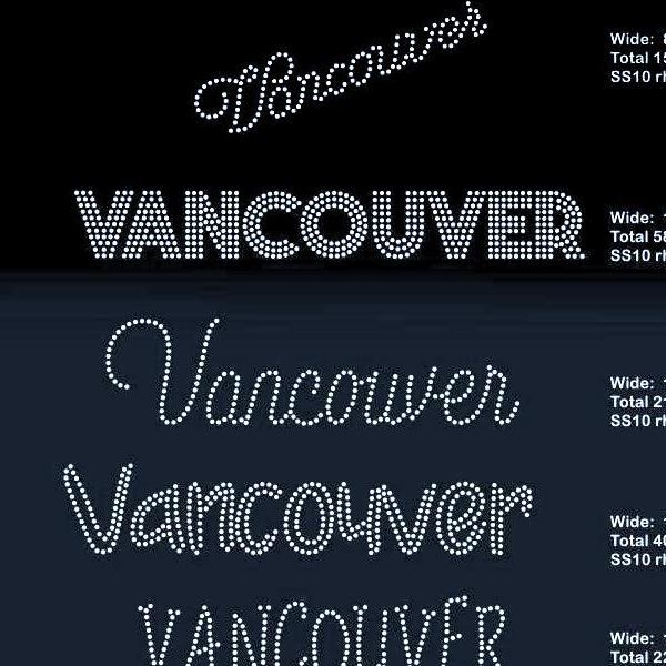Vancouver 5 designs rhinestone template digital download, svg, eps, png, dxf - rhinestone templates