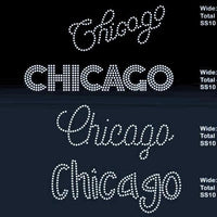 Chicago 5 designs rhinestone template digital download, svg, eps, png, dxf - rhinestone templates