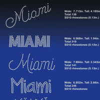 Miami 5 designs rhinestone template digital download, svg, eps, png, dxf - rhinestone templates