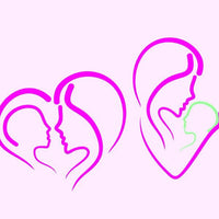 Mother and child in svg, dxf, png, eps format - rhinestone templates