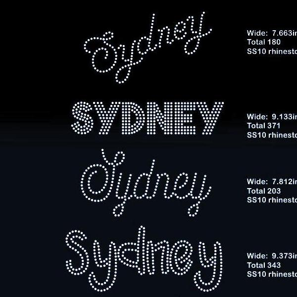 Sydney 5 designs rhinestone template digital download, svg, eps, png, dxf - rhinestone templates