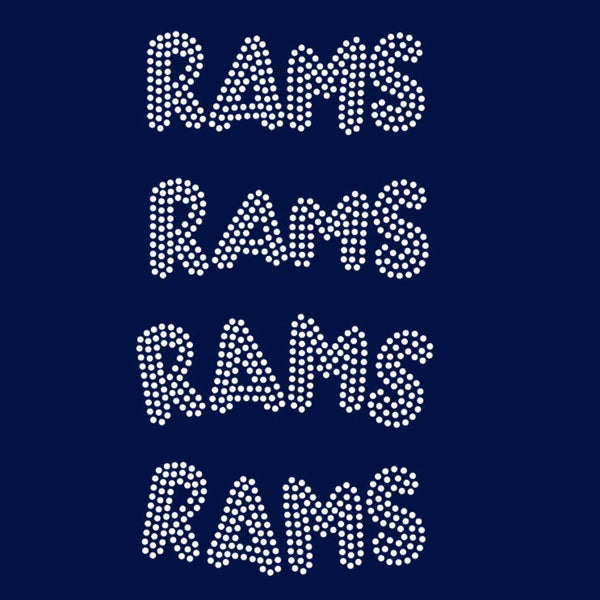 Rams team mascot names rhinestone templates, ai , svg, eps, png, dxf SS10