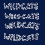 Wildcats team mascot names rhinestone templates, ai , svg, eps, png, dxf SS10