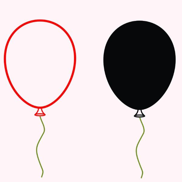Balloon in svg, dxf, png, eps format - rhinestone templates