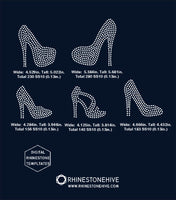 High heels, heels rhinestone template digital download, svg, eps, png, dxf - rhinestone templates