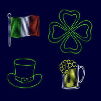 Shamrock, Flag, Beer, Hat, St Patrick's day rhinestone template digital download, svg, eps, ai, png, dxf - rhinestone templates