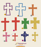 Crosses Embroidery files - rhinestone templates