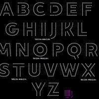 Open Bold Outline letters Alphabet digital download, svg, eps, studio3, png, dxf rhinestone template - rhinestone templates