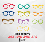 Glasses in svg, dxf, png format - rhinestone templates