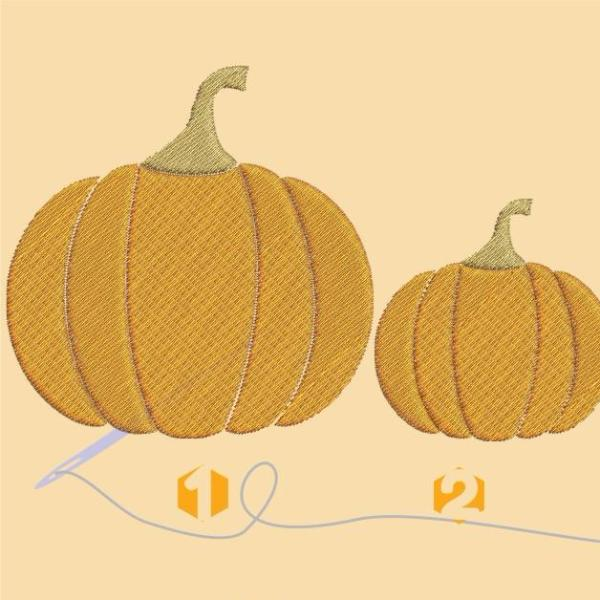 Pumpkin Embroidery files - rhinestone templates