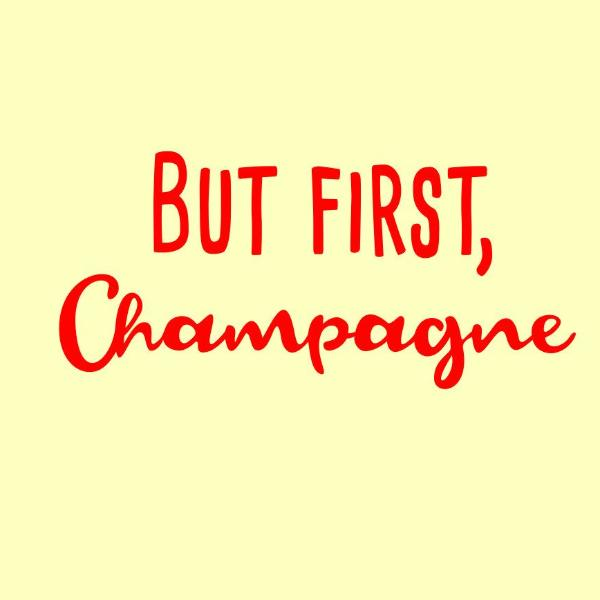 But first Champagne in svg, dxf, png format - rhinestone templates