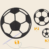 Soccer ball Embroidery files - rhinestone templates