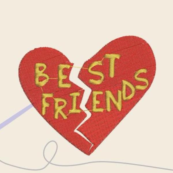 Best friends Embroidery files - rhinestone templates