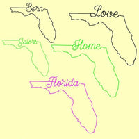 Florida state Home, Love, Born, Gators in svg, dxf, png format - rhinestone templates