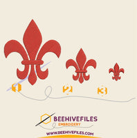 Fleur de lis Embroidery files - rhinestone templates