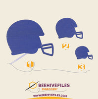 Helmet Embroidery files - rhinestone templates