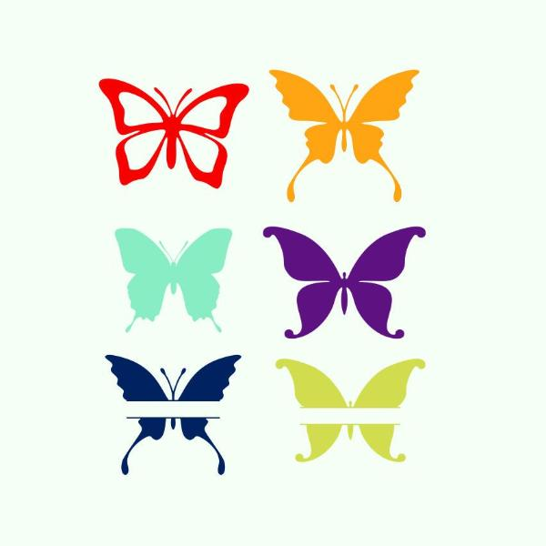 Butterflies in svg, dxf, png  format - rhinestone templates