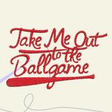 Take me out to the ballgame Embroidery files - rhinestone templates