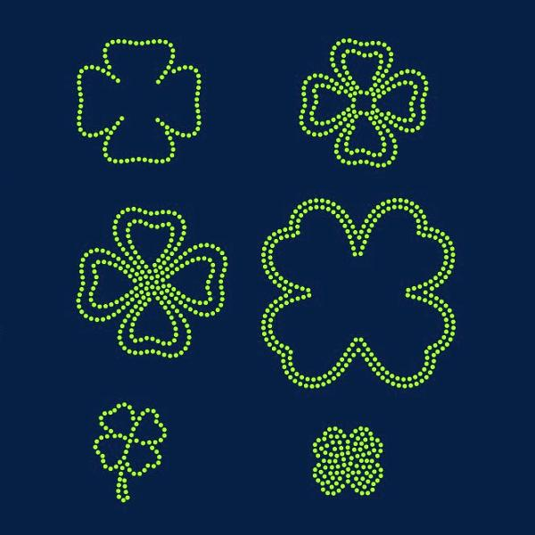 Shamrock, Luck, St Patrick's day rhinestone template digital download, svg, eps, ai, png, dxf - rhinestone templates
