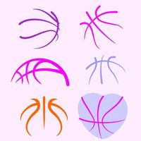 Basketball stripes in svg, dxf, png, eps format - rhinestone templates