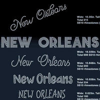 New Orleans 5 designs rhinestone template digital download, svg, eps, png, dxf - rhinestone templates